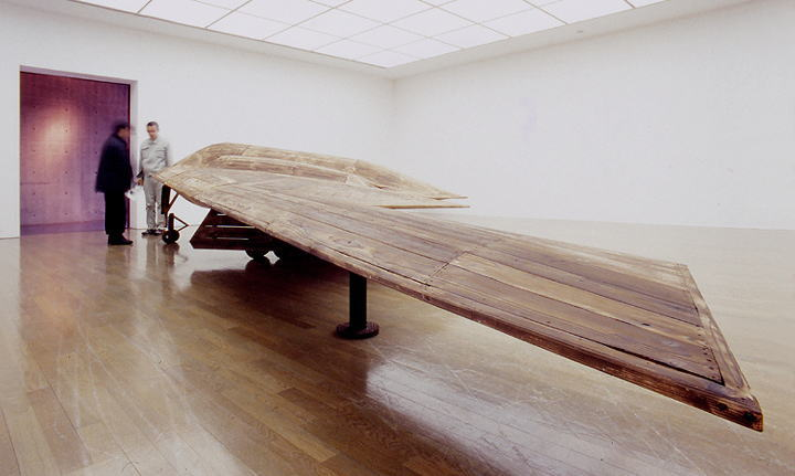 Wooden B2 (B2 Stelth Bomber) in Nagi Museum Of Contemporary Art